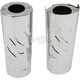 Chrome +2 in. Flame Fork Slider Covers - 0411-0149