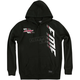 Black Capital Hooded Zip Up