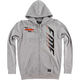 Heather Gray Capital Hooded Zip Up