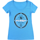 Turquoise Blue Womens Performance Tee Shirt