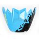 Blue/Yellow Visor for Moto-9 Flex Seven Rogue Helmets - 7080406
