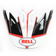 Black/White/Red Visor for Moto-9 Spark Helmets - 7081534