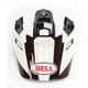 Black/White/Red Visor for MX-9 Adventure Stryker Helmets - 7081605
