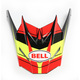 Red/Yellow Visor for SX-1 Holeshot Helmets - 7081614