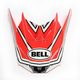 Red/Silver Visor for SX-1 Whip Helmets - 7081615