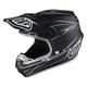 Black/Silver Pinstripe Composite SE4 Helmet