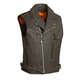 Black Reckless Outlaw Leather Vest