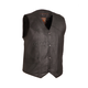Black The Texan Leather Vest