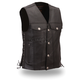 Black The Rushmore Leather Vest