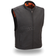 Black Club House Leather Vest