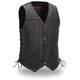 Black Top Biller Leather Vest