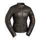 Women's Black Diamonds Leather Jacket