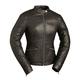 Women's Black Diamonds Leather Jacket