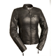 Women's Black Girl Power Leather Jacket
