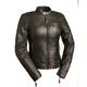 Women's Black Girl Power Leather Jacket