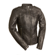 Women's Black Sexy Biker Leather Jacket