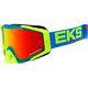 Cyan/Flo Yellow/Flo Orange GOX EKS-S Goggles - 067-50105