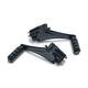 Gloss Black Adjustable Passenger Pegs - 7059