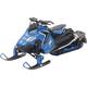 Blue Polaris Switchback Pro-X800 Snowmobile 1:16 Scale Die Cast Model - 57783B