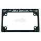 Black/Chrome Old No.7 Script License Plate Frame - 106-250