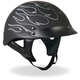 Black Reflective Flames Helmet