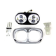 Chrome Dual LED Headlamp Unit - 33-1100