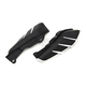 Black Windshield Deflector Set w/Chrome Trim - 51-0422