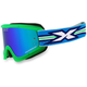 Fluorescent Green GOX Flat Out Goggles w/Blue Mirror Lens - 067-10355