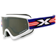 White GOX Flat Out Goggles w/Mirror Lens - 067-10375