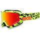 Black/Fluorescent Yellow GOX Scatter X Goggles w/Red Mirror Lens - 067-10615