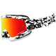 White/Black GOX Scatter X Goggles w/Red Mirror Lens - 067-10620