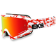 White/Red GOX Scatter X Goggles w/ Red Mirror Lens - 067-10635