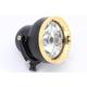 4 1/2 in. Machine Black Neo-Fusion Headlight w/Brass Ring - 11-001