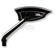 Left Black Machine Vanquish Mirror - 12-202