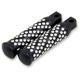 Black Machine Spiral Dimpled Passenger Footpegs - 5-013