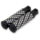 Black Machine Spiral Dimpled Driver Footpegs - 5-012