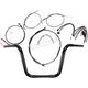 Black Pearl Caliber Handlebar Installation Kit for 12 in. Ape Hanger Bars - 48827-112