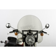 17 in. Smoke SS-30 Classic Windshield w/Black Quick Release Hardware - SS-30-17TTQB