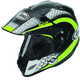 Black/Neon Green/White Multi-Colored XD4 Mesh Helmet