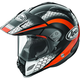 Black/Orange/White Multi-Colored XD4 Mesh Helmet