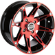 Rear Red 387X Rear 12 x 8 Wheel - 0230-0866