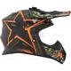 Matte Green/Orange TX 707 Carbon Fiber Helmet