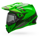 Green/Titanium MX-9 Adventure Barricade Snow Helmet w/Electric Shield