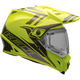 Yellow/Titanium MX-9 Adventure Barricade Snow Helmet w/Electric Shield