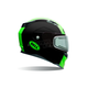 Matte Black/Green Revolver EVO Rally Snow Helmet w/Electric Shield
