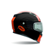 Matte Black/Orange Revolver EVO Rally Snow Helmet w/Electric Shield