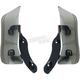 Adjustable Fairing Air Deflectors w/Satin Black Mounts - 1244