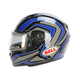 Blue/Titanium/Black Qualifier Machine Snow Helmet w/Electric Shield