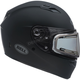 Matte Black Qualifier Snow Helmet w/Electric Shield