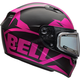 Matte Pink/Black Qualifier Momentum Snow Helmet w/Electric Shield